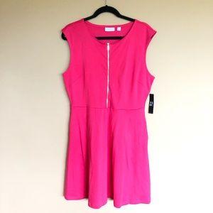 NY&C zipper front pocketed dress